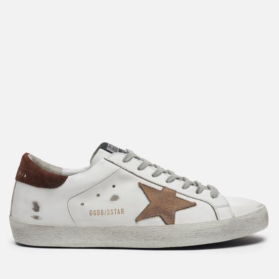 Мужские кроссовки Golden Goose Superstar White Leather/Incense Nabuck Star
