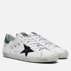 Мужские кроссовки Golden Goose Superstar White Leather/White Canvas/Black Star