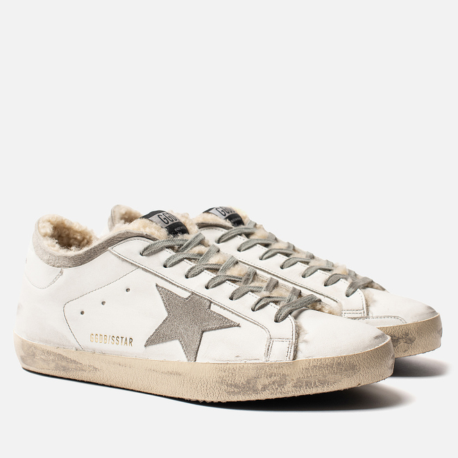 Мужские кроссовки Golden Goose Superstar White Shearling Sock