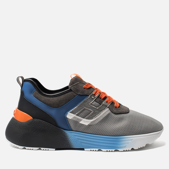 Мужские кроссовки Hogan Active One Grey/Light Blue/Orange
