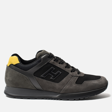 Мужские кроссовки Hogan H321 Suede Grey/Black/Yellow