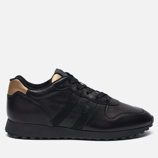 Мужские кроссовки Hogan H383 Leather Black/Gold