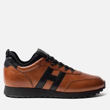 Мужские кроссовки Hogan H383 Leather Brown/Black фото- 3