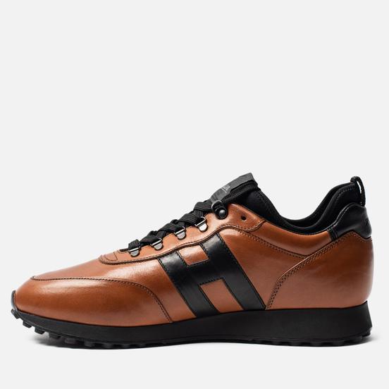 Мужские кроссовки Hogan H383 Leather Brown/Black
