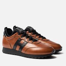 Мужские кроссовки Hogan H383 Leather Brown/Black фото- 0