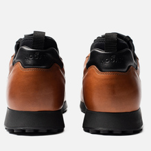 Мужские кроссовки Hogan H383 Leather Brown/Black фото- 2