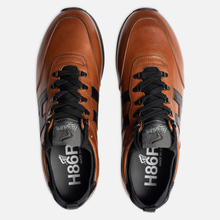 Мужские кроссовки Hogan H383 Leather Brown/Black фото- 1