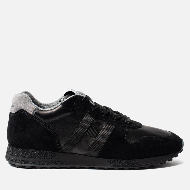 Мужские кроссовки Hogan H383 Track & Field Suede Black/Grey