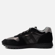 Мужские кроссовки Hogan H383 Track & Field Suede Black/Grey фото- 5