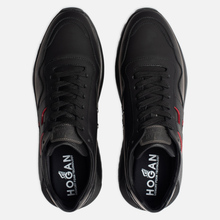 Мужские кроссовки Hogan Interactive 3 Leather Black/Red фото- 1