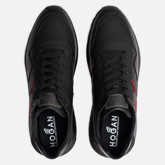 Мужские кроссовки Hogan Interactive 3 Leather Black/Red