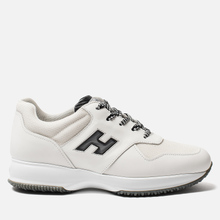 Мужские кроссовки Hogan Interactive Suede White/Black фото- 3