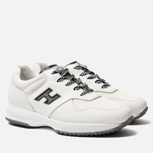 Мужские кроссовки Hogan Interactive Suede White/Black фото- 0