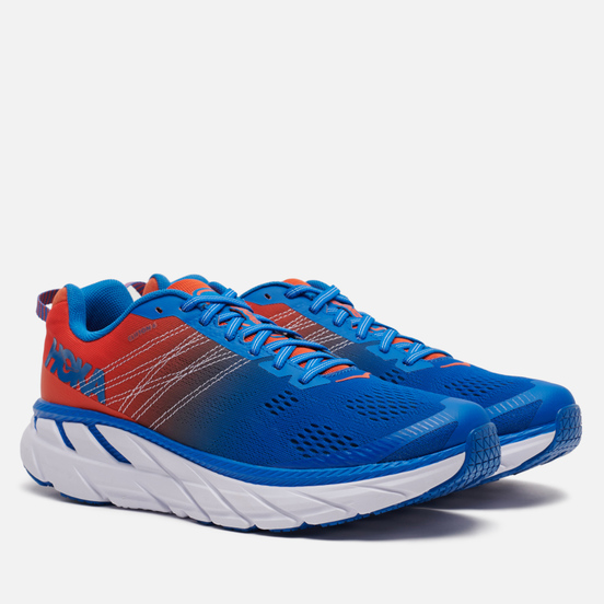 Мужские кроссовки Hoka One One Clifton 6 Mandarin Red/Imperial Blue