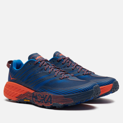 Мужские кроссовки Hoka One One Speedgoat 4 Majolica Blue/Mandarin Red
