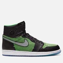 Мужские кроссовки Jordan Air Jordan 1 High Zoom Air Rage Green Black/Black/Tomatillo/Rage Green