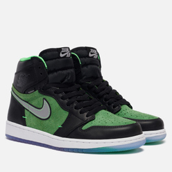 Мужские кроссовки Jordan Air Jordan 1 High Zoom Air Rage Green Black/Black/Tomatillo/Rage Green