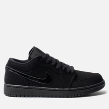 Мужские кроссовки Jordan Air Jordan 1 Low Black/Black/Black фото- 3