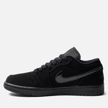 Мужские кроссовки Jordan Air Jordan 1 Low Black/Black/Black фото- 5