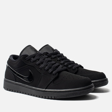 Мужские кроссовки Jordan Air Jordan 1 Low Black/Black/Black фото- 0