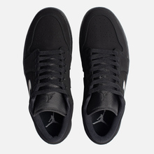 Мужские кроссовки Jordan Air Jordan 1 Low Black/Black/Black фото- 1