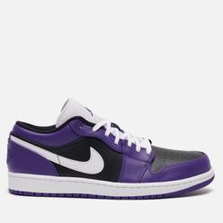 Мужские кроссовки Jordan Air Jordan 1 Low Court Purple/White/Black