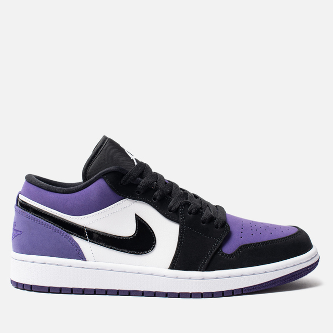 Мужские кроссовки Jordan Air Jordan 1 Low White/Black/Court Purple