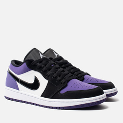 Мужские кроссовки Jordan Air Jordan 1 Low White/Black/Court Purple
