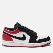 Мужские кроссовки Jordan Air Jordan 1 Low White/Black/Gym Red фото- 0