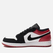 Мужские кроссовки Jordan Air Jordan 1 Low White/Black/Gym Red фото- 1