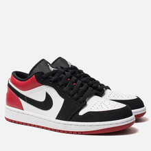 Мужские кроссовки Jordan Air Jordan 1 Low White/Black/Gym Red фото- 2