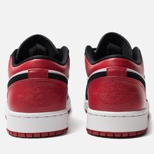 Мужские кроссовки Jordan Air Jordan 1 Low White/Black/Gym Red фото- 3