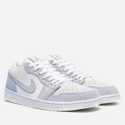 Мужские кроссовки Jordan Air Jordan 1 Low White/Sky Grey/Football Grey