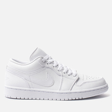 Мужские кроссовки Jordan Air Jordan 1 Low White/White/White фото- 3