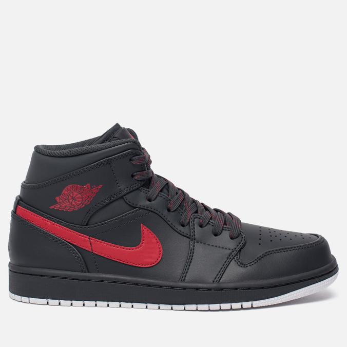 Мужские кроссовки Jordan Air Jordan 1 Mid Anthracite/Gym Red/White