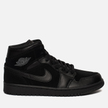 Мужские кроссовки Jordan Air Jordan 1 Mid Black/Dark Grey/Black фото- 0