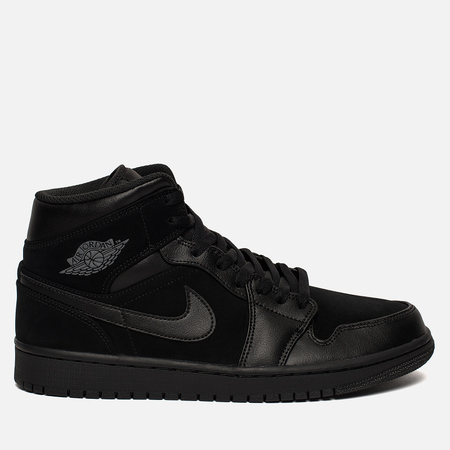 Мужские кроссовки Jordan Air Jordan 1 Mid Black/Dark Grey/Black