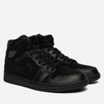 Мужские кроссовки Jordan Air Jordan 1 Mid Black/Dark Grey/Black фото- 1
