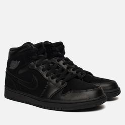 Мужские кроссовки Jordan Air Jordan 1 Mid Black/Dark Grey/Black