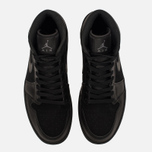 Мужские кроссовки Jordan Air Jordan 1 Mid Black/Dark Grey/Black фото- 4