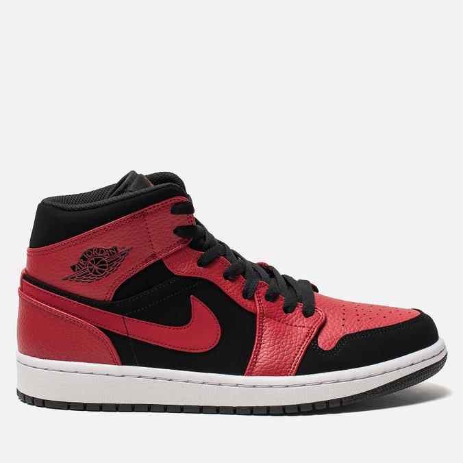 Мужские кроссовки Jordan Air Jordan 1 Mid Black/Gym Red/White