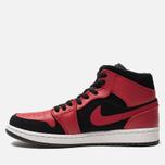 Мужские кроссовки Jordan Air Jordan 1 Mid Black/Gym Red/White фото- 1