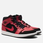 Мужские кроссовки Jordan Air Jordan 1 Mid Black/Gym Red/White фото- 2