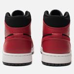 Мужские кроссовки Jordan Air Jordan 1 Mid Black/Gym Red/White фото- 3