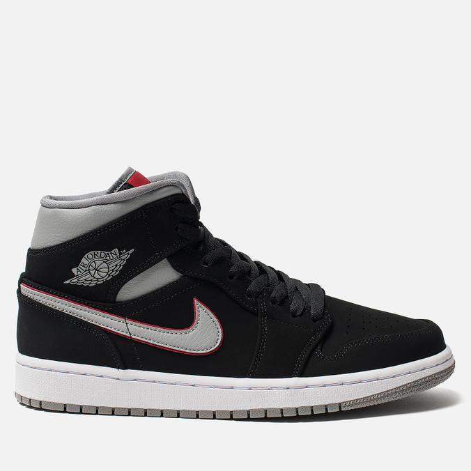 Мужские кроссовки Jordan Air Jordan 1 Mid Black/Particle Grey/White/Gym Red