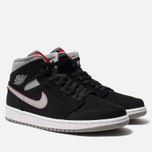 Мужские кроссовки Jordan Air Jordan 1 Mid Black/Particle Grey/White/Gym Red фото- 1
