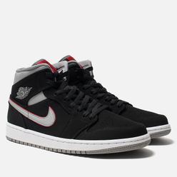 Мужские кроссовки Jordan Air Jordan 1 Mid Black/Particle Grey/White/Gym Red