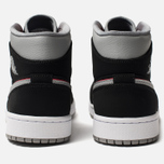 Мужские кроссовки Jordan Air Jordan 1 Mid Black/Particle Grey/White/Gym Red фото- 5