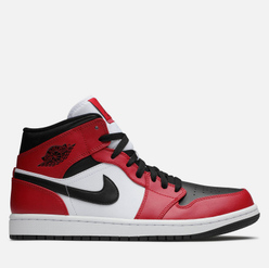 Мужские кроссовки Jordan Air Jordan 1 Mid Chicago Toe Black/Black/Gym Red