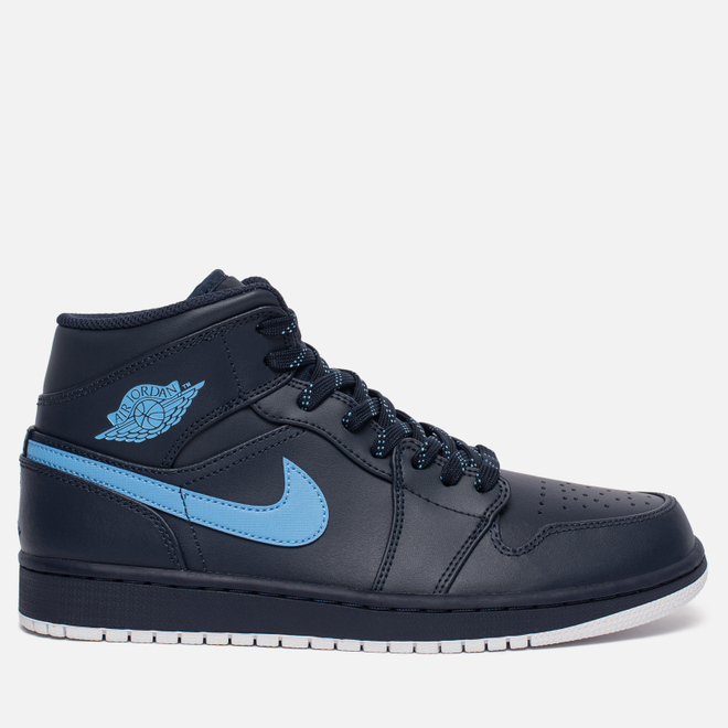 Мужские кроссовки Jordan Air Jordan 1 Mid Obsidian/University Blue/White